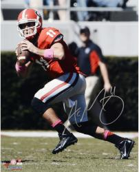 Aaron Murray Georgia Bulldogs Autographed 16'' x 20'' Passing Photograph - Mounted Memories
