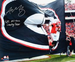 Aaron Murray Georgia Bulldogs Autographed 16'' x 20'' Entrance Photograph with Go Dawgs Inscription - Mounted Memories