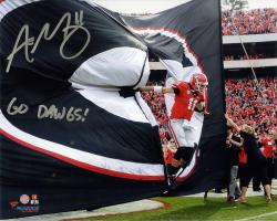 Aaron Murray Georgia Bulldogs Autographed 8'' x 10'' Entrance Photograph with Go Dawgs Inscription - Mounted Memories