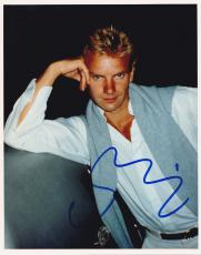 Music Icon Sting Signed 8x10 Photo Authentic Autograph In-person The Police Coa