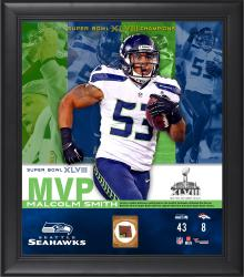 Malcolm Smith Seattle Seahawks Super Bowl XLVIII Champions Framed 15'' x 17'' MVP Collage with Game-Used Ball - Mounted Memories