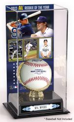 Wil Myers Tampa Bay Rays 2013 American League Rookie of the Year Award Gold Glove with Image Display Case - Mounted Memories