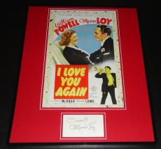 Myrna Loy Signed Framed 16x20 Photo Poster Display I Love You Again