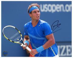 "Rafael Nadal Autographed 8"" x 10"" 2011 US Open Photograph"