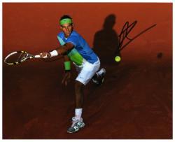 "Rafael Nadal Autographed 8"" x 10"" Multicolor Shirt Photograph"