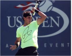 "Rafael Nadal Autographed 8"" x 10"" US Open Black Band Photograph"