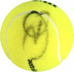 Rafael Nadal & Novak Djokovic Dual Autographed Austrailan Open Logo Tennis Ball