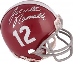Joe Namath Alabama Crimson Tide Autographed Riddell Mini Helmet