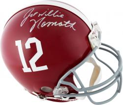 Joe Namath Alabama Crimson Tide Autographed Riddell Pro-Line Authentic Helmet - Mounted Memories