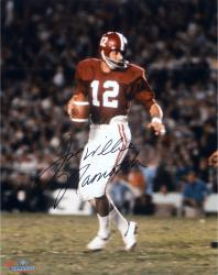 "Joe Namath Alabama Crimson Tide Autographed 16"" x 20"" Crimson Uniform with Ball Photograph"