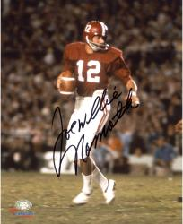 "Joe Namath Alabama Crimson Tide Autographed 8"" x 10"" Crimson Uniform with Ball Photograph"
