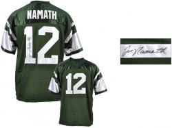 Joe Namath New York Jets Autographed Custom Green Jersey