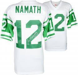 Joe Namath New York Jets Autographed Replica White Jersey with Multiple Inscriptions