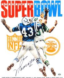 "Joe Namath New York Jets Autographed 16"" x 20"" Super Bowl III Cover Photograph"