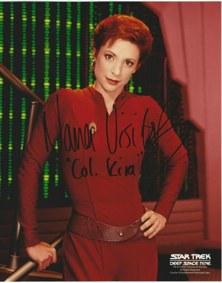 Nana Visitor Signed Star Trek Deep Space Nine Kira Nerys 8x10 Photo #2