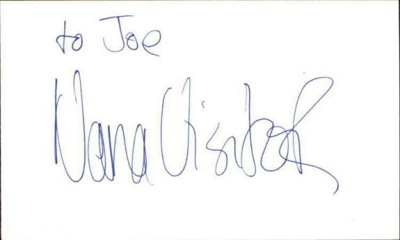 "NANA VISITOR STAR TREK Signed 3""x5"" Index Card"