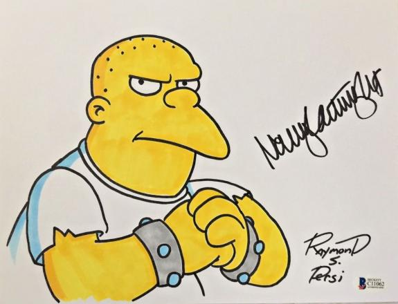 NANCY CARTWRIGHT Dual Signed The Simpsons Original Art Raymond S Persi BAS COA F
