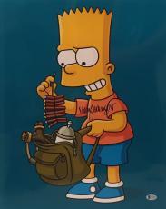 Nancy Cartwright Signed Bart Simpson Metallic 16x20 Photo BAS