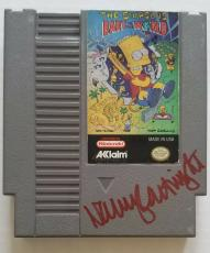 NANCY CARTWRIGHT Signed The Simpsons Bart Nintendo Game Autographed BAS COA
