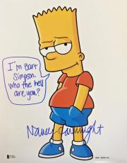 NANCY CARTWRIGHT Signed The Simpsons Bart Simpson Autographed 8x10 Photo BAS A