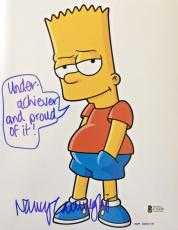 NANCY CARTWRIGHT Signed The Simpsons Bart Simpson Autographed 8x10 Photo BAS B
