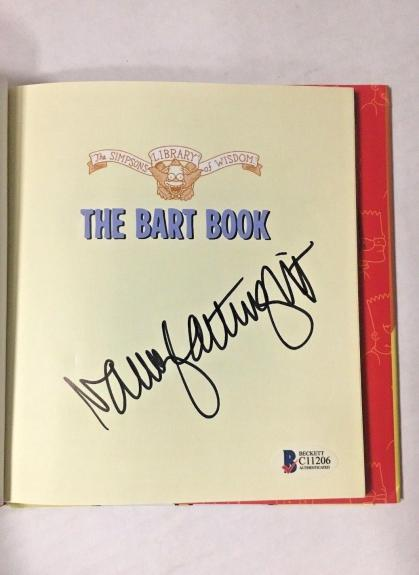NANCY CARTWRIGHT Signed The Simpsons THE BART BOOK Autographed BAS COA AUTO