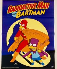 NANCY CARTWRIGHT * Voice of BART * Signed THE SIMPSONS Poster w/ BAS Beckett COA