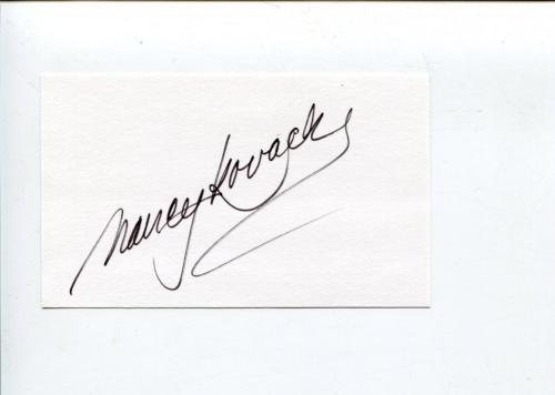 Nancy Kovack Batman Villian Star Trek Bewitched Signed Autograph
