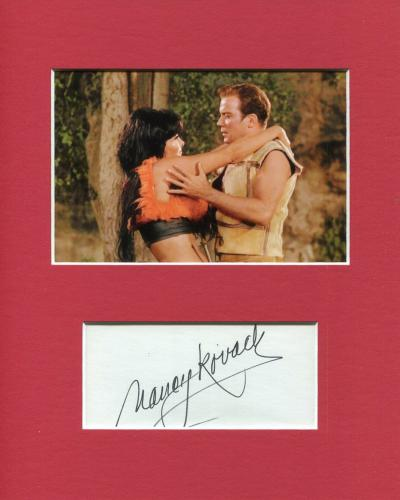 Nancy Kovack Star Trek Nona Signed Autograph Photo Display With William Shatner