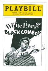 Nancy Marchand autographed trading card Playbill White Liars and Black Comedy