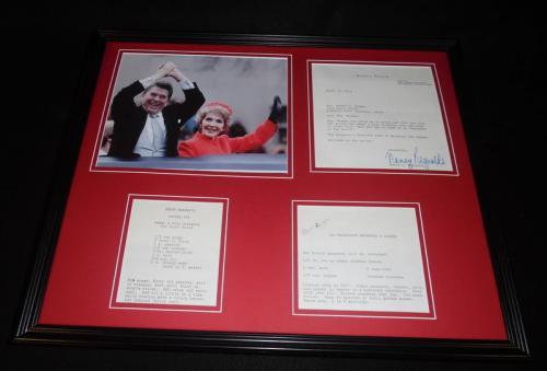 Nancy & Ronald Reagan 16x20 Framed ORIGINAL 1975 Recipe Set & Photo Display