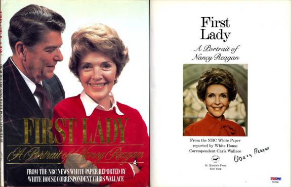 Nancy Ronald Reagan SIGNED First Lady A Portrait HC 1st Ed PSA/DNA AUTOGRAPHED