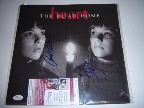 Nancy Wilson & Ann Wilson Heart Jsa/coa Signed Promo Record Album Flat