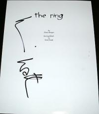 "Naomi Watts Signed Autograph ""the Ring"" Full Rare Movie Script With Coa"