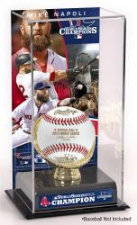 Mike Napoli Boston Red Sox 2013 MLB World Series Champions Gold Glove with Image Display Case - Mounted Memories