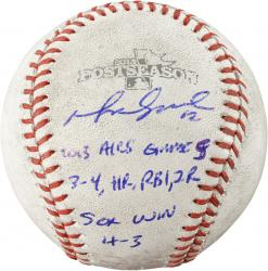 Mike Napoli Boston Red Sox 2013 American League Champions Autographed Baseball with Multiple Inscription
