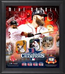 Mike Napoli Boston Red Sox 2013 World Series Framed 15'' x 17'' Collage with Game-Used Baseball - Limited Edition of 500 - Mounted Memories