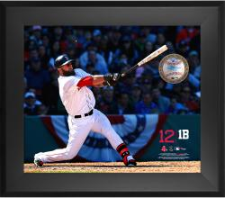 Mike Napoli Boston Red Sox Framed 20'' x 24'' Gamebreaker Photograph with Game-Used Ball - Mounted Memories