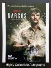 Narcos Pedro Pascal Signed 11x14 Photo Autograph Psa Dna Coa Netflix