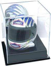 NASCAR Mini Helmet Display Case with Mirror Back
