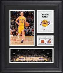 "Steve Nash Los Angeles Lakers Framed 15"" x 17"" Collage with Team-Used Ball"