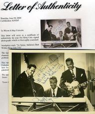 Nat King Cole Signed Jsa 5x7 Photo King Trio Certified Autograph