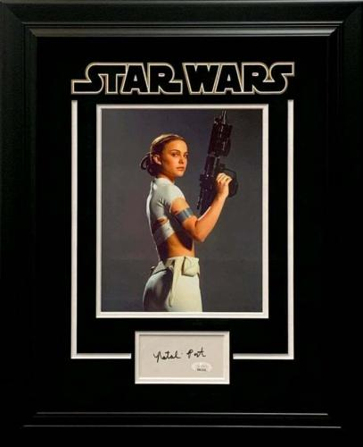 Natalie Portman Star Wars Amidala Sexy Signed Autograph Framed Photo Display JSA
