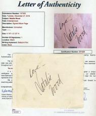 Natalie Wood Jsa Hand Signed Album Page Authentic Autograph