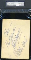 Natalie Wood Robert Wagner Signed Card Psa/dna Authentic Autograph