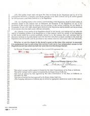 Natalie Wood Signed Authentic Autographed Agency Contract (PSA/DNA) #U03207