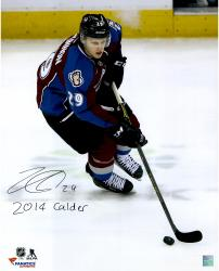 Nathan MacKinnon Colorado Avalanche Autographed 16'' x 20'' Photograph with 2014 Calder Inscription