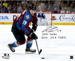 Nathan MacKinnon Colorado Avalanche Autographed 16'' x 20'' Photograph with Multiple Inscriptions-#2-28 of a Limited Edition of 29