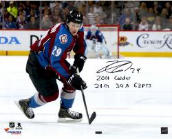 Nathan MacKinnon Colorado Avalanche Autographed 16'' x 20'' Photograph with Multiple Inscriptions-#29 of a Limited Edition of 29