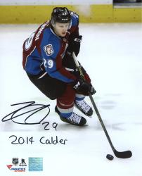 Nathan MacKinnon Colorado Avalanche Autographed 8'' x 10'' Photograph with 2014 Calder Inscription